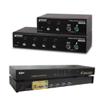 KVM svievi PS/2, USB, IP