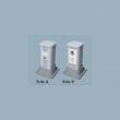 Komunikacioni stub visine 30cm od aluminijuma sa 10 slotova za module 45x45mm (ukupno 20 x 1M) NA2300CP300