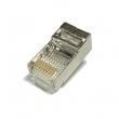 RJ-45 konektor FTP/STP kat. 5E - oklopljen, 8P8C 8-pinski za krimpovanje na UTP/FTP/SFTP kabl punog preseka
