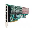OpenVox AE2410P PCI VoIP Asterisk kartica w/ Hardware Echo Cancellation EC2032-128 (24-portna, 6 slotova za FXO400/FXS400 module)