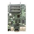 MikroTik RouterBoard RB433AH – 3 x 10/100Mb/s LAN/WAN (1xPoE in 10-28V), 3 x miniPCI, CPU 680MHz, 128 MB RAM, microSD slot, dim. 150x105mm, temp. -30C-60C, RouterOS L5