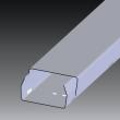 40x20mmm KANAL metalni pocinkovani Kopos SK sa poklopcem, može se koristiti kao zaštitni razdvajajući podkanal u parapetnim kanallima