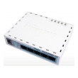 MikroTik miniRouterBOARD RB750 sa 5 x LAN / WAN portova 10/100Mb/s, VPN ruter / Firewall / Bandwith manager, Atheros AR7240 CPU, 32MB RAM, RouterOS L4 sa internim kuitem i adapterom
