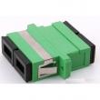 SC-APC / SC-APC singlemode duplex fiber adapter, APC (angle-polished connectors)