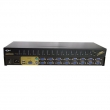 "KVM svič CKL-9116UP 16 ports combo PS/2&USB +16 cables 1.8m - bandwidth 250MHz, 1920x1440p, rackmount 19"", svič: push button/hotkey/OSD"