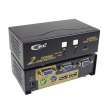 KVM svič CKL-82UP 2 ports combo PS/2&USB + 2 cables 1.8m - bandwidth 250MHz, 1920x1440p, svič: push button/hotkey