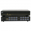 VGA spliter CKL-916B 1-IN/16-OUT bandwidth 450MHz, 2048x1536p, extend the signal up to 75m, rackmount 19&quot;