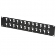 "Patch panel modularni 19""/2U sa 24 slota za UTP module (KP-24-2U) – bez modula"