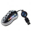 Miš Logitech NASCAR USB mini optički (3 tastera), kabl se uvlači/izvlači