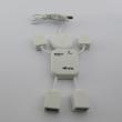 USB 2.0 hub 4 porta (oblik čovečuljka, beli)