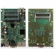 MikroTik RouterBoard RB435G – 3 x Gigabit 10/100/1000Mb/s LAN/WAN (1xPoE in 8-28V), 5 x miniPCI, 2 x USB (za 3G/LTE modeme i storage), CPU 680MHz, 256 MB RAM, microSD slot, dim. 154x105mm, temp. -30C-60C, RouterOS L5
