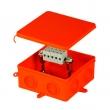 Kopos vatrootporna razvodna kutija model 8135 dim. 105x105x40mm halogen free, za prespajanje 5 žica prečnika 1.5 – 6mm2,  IP54, E90min po DIN 4102-12