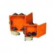 Kopos vatrootporna razvodna kutija model 8117 dim. 167x167x40mm halogen free, za prespajanje 5 žica prečnika 1.5 – 16mm2,  IP54, E60min po DIN 4102-12