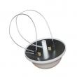 Omni indoor antena 3 dBi, 2.4 & 5GHz (dual band) - NC-2459-3-360 - RP-SMA(m) konektor, VSWR<=2.0, plafonska / zidna montaža - oblik polu lopte, ugao po horizontali 360 stepeni