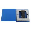 Zidni prekidač ART F serije, jednopolni, klasični i/ili naizmenični 250V - 10А, plava Pantone paleta boja, model ARTF2