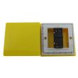 Zidni prekidač ART F serije, jednopolni, klasični i/ili naizmenični 250V - 10А, žuta Pantone paleta boja, model ARTF2