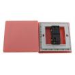 Zidni prekidač ART F serije, jednopolni, klasični i/ili naizmenični 250V - 10А, crvena Pantone paleta boja, model ARTF2