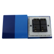 Zidni prekidač ART F serije, dvopolni, klasični i/ili naizmenični 250V - 10А, plava Pantone paleta boja, model ARTF4
