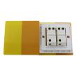 Zidni prekidač ART F serije, dvopolni, klasični i/ili naizmenični 250V - 10А, žuta Pantone paleta boja, model ARTF4