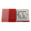 Zidni prekidač ART F serije, dvopolni, klasični i/ili naizmenični 250V - 10А, crvena Pantone paleta boja, model ARTF4