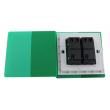 Zidni prekidač ART F serije, dvopolni, klasični i/ili naizmenični 250V - 10А, zelena Pantone paleta boja, model ARTF4