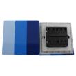 Zidni prekidač ART F serije, tropolni, klasični i/ili naizmenični 250V - 10А, plava Pantone paleta boja, model ARTF6