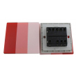 Zidni prekidač ART F serije, tropolni, klasični i/ili naizmenični 250V - 10А, crvena Pantone paleta boja, model ARTF6