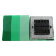 Zidni prekidač ART F serije, tropolni, klasični i/ili naizmenični 250V - 10А, zelena Pantone paleta boja, model ARTF6