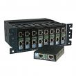 """Proscend 800-AC mini-rack koncentrator šasija 2U/10"""" za 8 x 100M VDSL2 LAN ekstendera,  dve šasije se mogu nadovezati u jednu 2U/19"""" za 16 uređaja"""