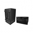 DCN svič DCRS-7604E modularna šasija, kapacitet 1200Gbps/870Mpps, 1 ili 2 slota za management module (1+1 modovi), 2 ili 3 slota za svič module, 2 slota za napajanja (1 modul napajanja 600W ugrađen)