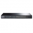"TP-Link TL-SG3216 JetStream™ 16-port Gigabit Managed Svič, 16x10/100/1000Mb/s + 2xCombo100/1000Mb/s SFP slot, SNMP, 802.1Q VLAN, RMON, QoS, Security, 19"" rack, AC 100-240V / 50-60Hz"