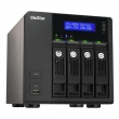 QNAP VS-4008Pro VioStor NVR server 4 x hot-swapp HDD bays, 8 x IP camera, Intelligent video analytics, Multi-NVR monitoring, VGA