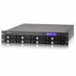 QNAP VS-8148U-RP Pro VioStor NVR server 8 x hot-swapp HDD bays, 48 x IP camera, Intelligent video analytics, Multi-NVR monitoring, VGA, rack 2U/19""