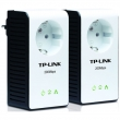 TP-Link TL-PA251KIT 200Mb/s Mini Powerline Ethernet Adapter sa integrisanom utičnicom, za mrežu preko strujne instalacije (komplet) - domet do 300m, 128 Bit AES kriptovanje, QoS, Ethernet 10/100Mb/s port