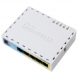 MikroTik miniRouterBOARD RB750UP sa 5 x LAN / WAN portova 10/100Mb/s, VPN ruter / Firewall / Bandwith manager, Atheros AR7241 CPU, 32MB RAM, USB port, 4 PoE (pasivna) porta,  RouterOS L4 sa internim kuitem i adapterom