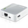 TP-Link TL-MR3020 3G / 4G LTE mini ruter prenosni 150Mb/s 802.11b/g/n na 2.4GHz, 1 x WAN/LAN 10/100Mb/s + 1 x USB za modeme + 1 x miniUSB port za napajanje, 3 moda rada: Router / WISP Client / AP, dim. 74x67x22mm