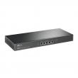 TP-Link TL-ER6120 Gigabit Dual-WAN VPN FireWall Ruter - 2 xWAN +1 xLAN/DMZ + 2 x LAN, IPsec/PPTP/L2TP, 100 IPsec VPN tunela (3)DES, AES128/192/256 crypt, hardware VPN engine, intelligent load balance, bandwidth control