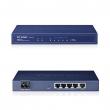 TP-Link TL-R600VPN Gigabit VPN Firewall Ruter - 1 x WAN + 4 x LAN, IPsec/PPTP, 20 LAN-to-LAN IPsec VPN tunela (3)DES, AES128/192/256 crypt, hardware VPN engine, bandwidth control, 4KV lightning protection