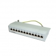 Patch panel nazidni sa 12 RJ-45 STP kat. 6A Fully Shielded, Krone LSA reglete (fiksni portovi), Full