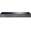 "TP-Link TL-SG2216 16-port Gigabit Smart Switch 16x10/100/1000Mb/s+2xcombo SFP slot (100/1000Mbps), 802.1Q VLAN, DSCP QoS, Security, 19"" rack"