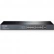 "TP-Link TL-SG2216 / T1600G-18TS JetStream™ upravljiv svič 16-port Gigabit 10/100/1000Mb/s+ 2 x SFP Gigabit, 512 VLANs 802.1Q, SNMP, RMON, QoS 802.1p priority, Access Control List L2~L4, Link Aggregation, desktop /19""rack"