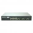 DCN L2 svič DCS-3950-10C  8 x 10/100Mb/s + 2 x Combo Gigabit SFP/UTP, Voice VLAN i QinQ, GVRP, STP/RSTP/MSTP, LACP 802.3ad, IGMP v1/v2/v3 snooping, MVR, OAM 802.3ah, DDM i Virtual Cable Testing, RADIUS/TACACS+, ACL