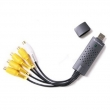 DVR USB kartica 4-kanalna AZEC4 EasyCap USB 2.0 dongle, 4 x BNC(ž) video ulaz + 1 x RCA(ž) audio ulaz, max 25fps, pregled i snimanje - max D1 rezolucija, inteligentna pretraga, DDNS, System Auto Recovery