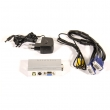AV / S-Video to VGA converter, input 1 x Composite Video & 1 x S-video, output 1 x VGA 1024x768 (60/75Hz), OSD