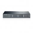 "TP-Link TL-SG1024DE EasySmart upravljiv svič 24-port Gigabit 10/100/1000Mb/s desktop/ 19"" rack, VLAN 802.1Q /MTU/Port, QoS 802.1p priority, Rate limit, IGMP, Link Aggregation, Jumbo frame, Central management utility, Eco"