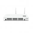 MikroTik CRS125-24G-1S-2HnD-IN L3 upravljiv svič 25 x GbE (24xRJ45+SFP) +2.4GHz 802.11n WiFi 300Mb/s hi-power 1000mW +USB, LCD, CPU 600MHz, 128MB RAM, PoE in, VPN-3G ruter/firewall/bandwith manager/load balancer, ROS L5
