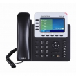 Grandstream-USA GXP-2140 Enterprise 4-line/4-SIP VoIP HD telefon, TFT color LCD 480x272 displej i 2 x Gigabit UTP porta, PoE