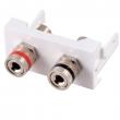 Uložak sa utičnicom za zvučnike (L - R) - dim. 45x22.5mm (1M) NA2420SP