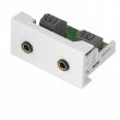Uložak sa 2 x ulaznom audio utičnicom za 3.5mm utikač - dim. 45x22.5mm (1M) NA24202PHJT