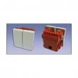 Uložak sa strujnim prekidačem, dvostruki, naizmenični dim. 45x45mm (2M) NP45A15